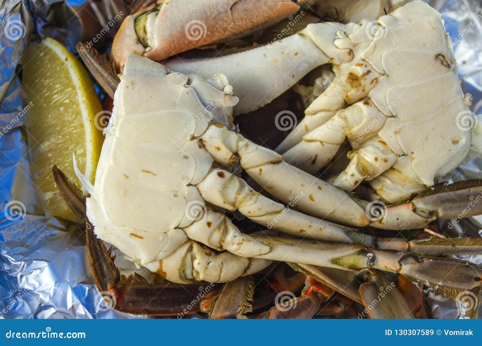 Caranguejo azul cozinhado delicacy
