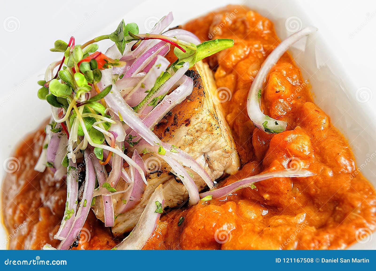 Carapulcra Peruvian Cuisine Stew Of Pork And Dehydrated Potatoes