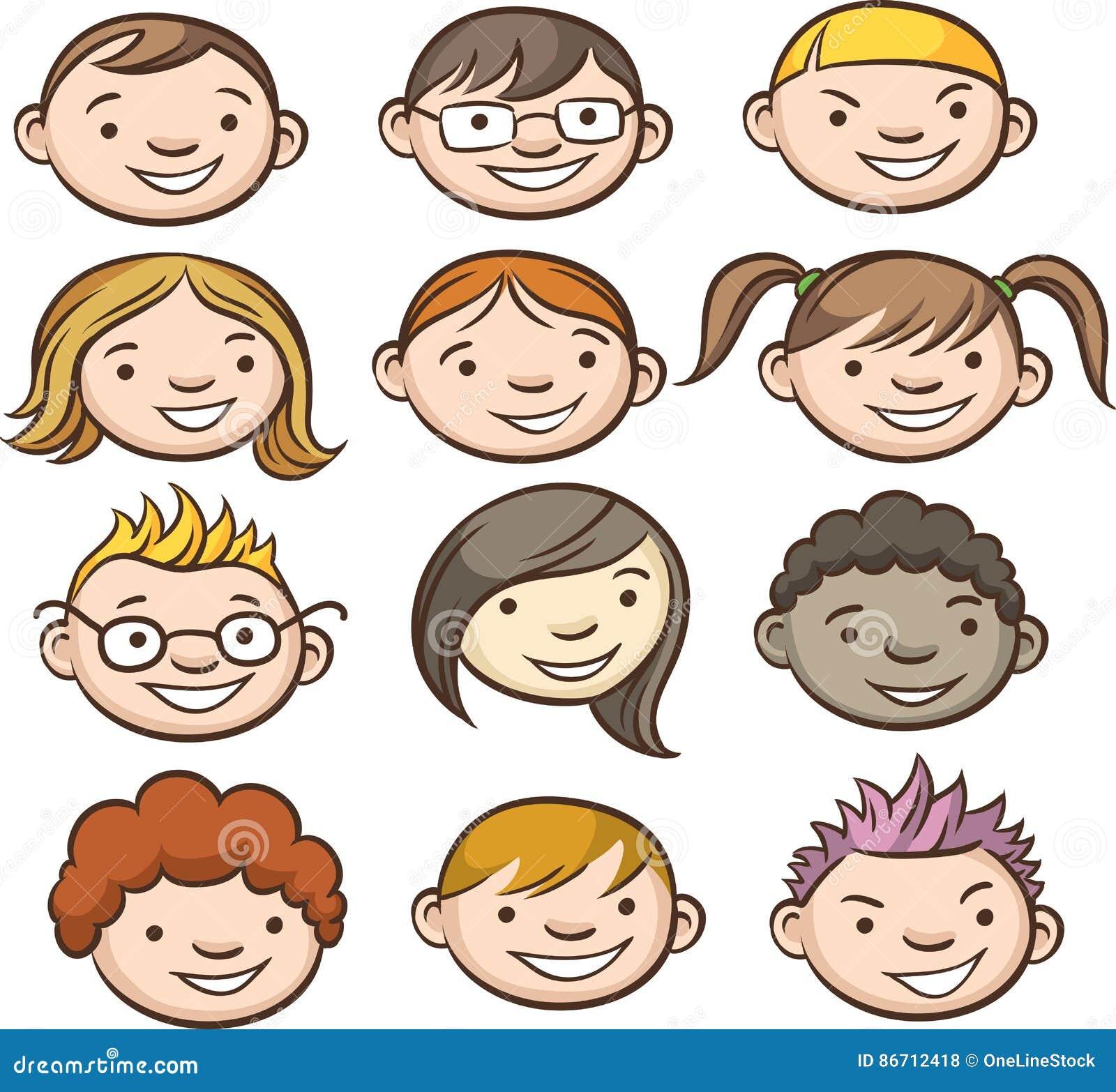 Caras sonrientes de los cabritos