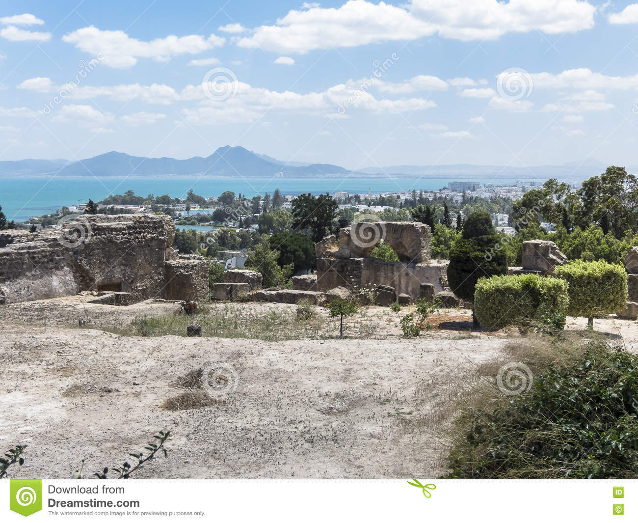 Caratagina and view on Tunis