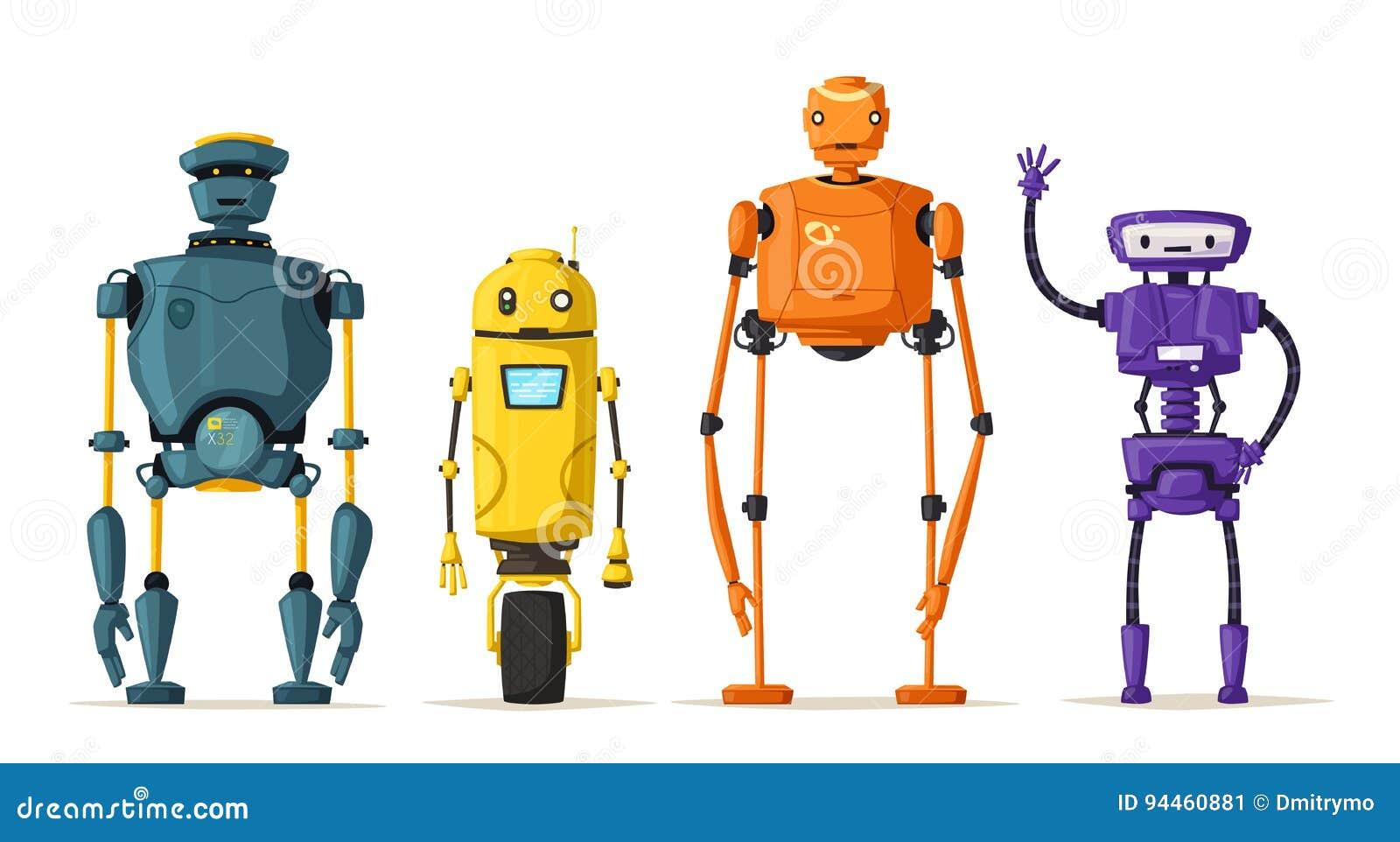 Carattere del robot Tecnologia, futuro Illustrazione di vettore del fumetto