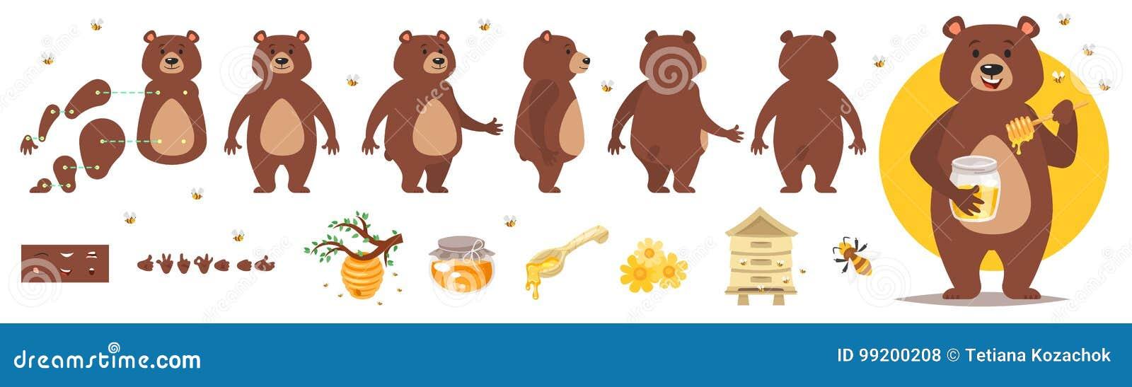 Carattere dell orso per l animazione