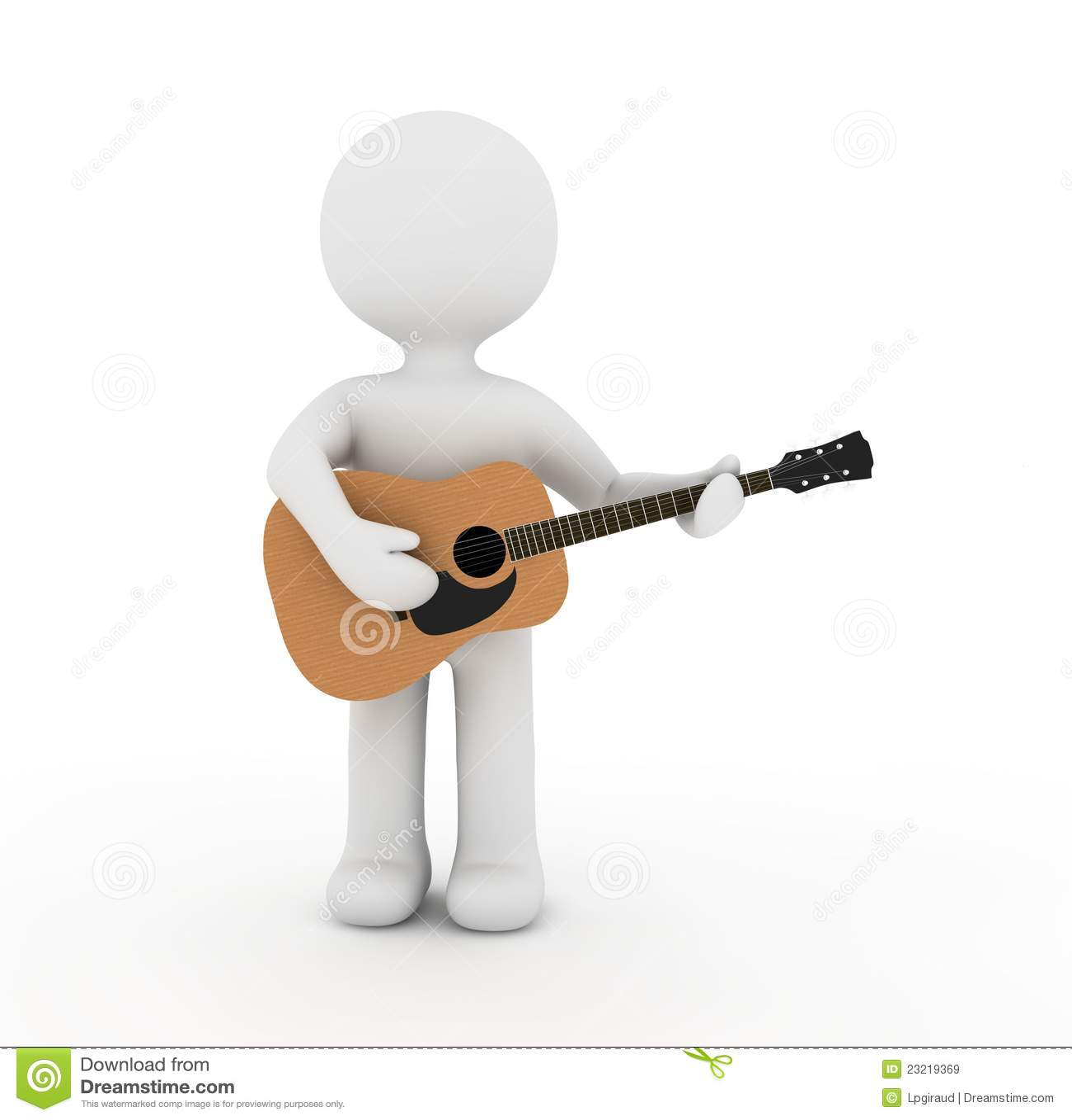 Carattere e chitarra bianchi