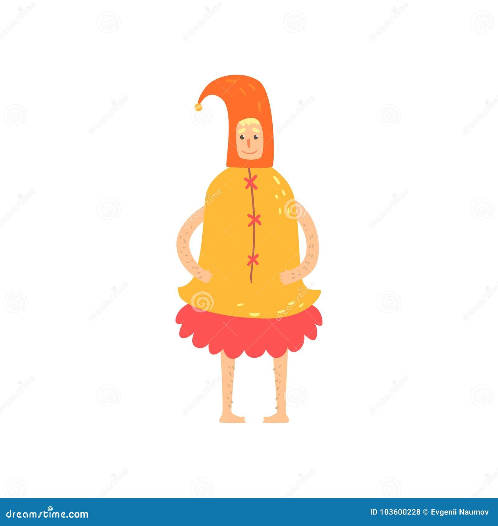 Carattere strano dell uomo in costume divertente della campana, travestimento pazzo o costume di carnevale, partito creativo nel