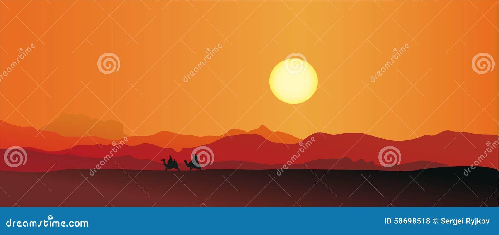 Caravan in a desert