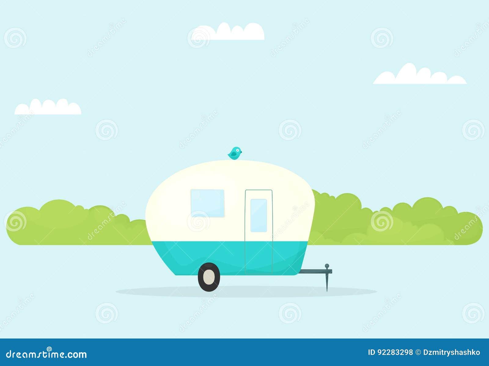Caravana do reboque do carro