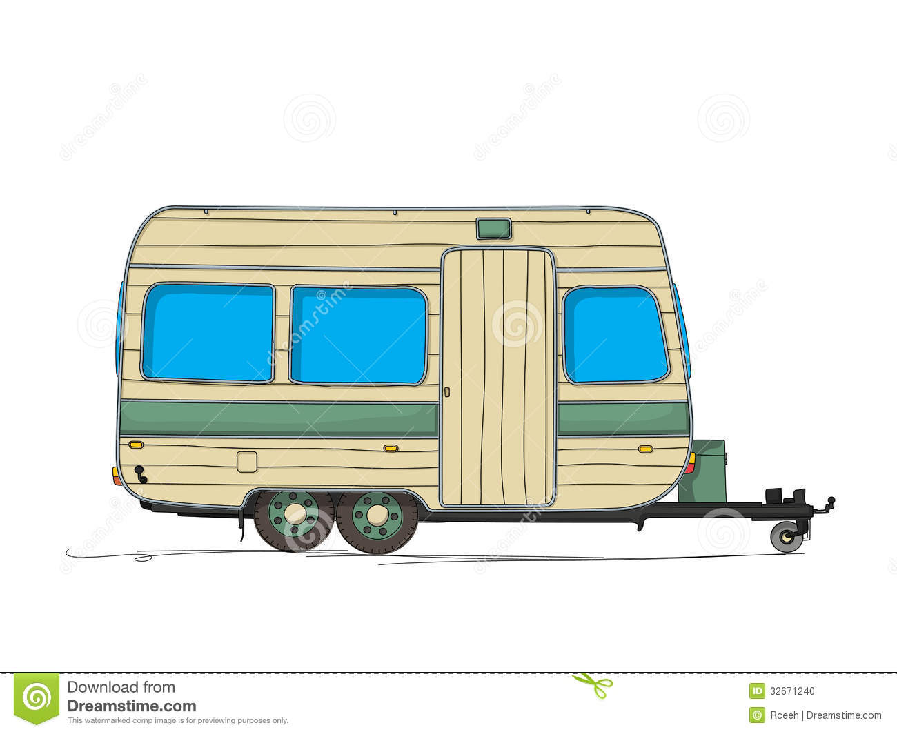Caravane illustration de vecteur image du cartoon - Caravane dessin ...