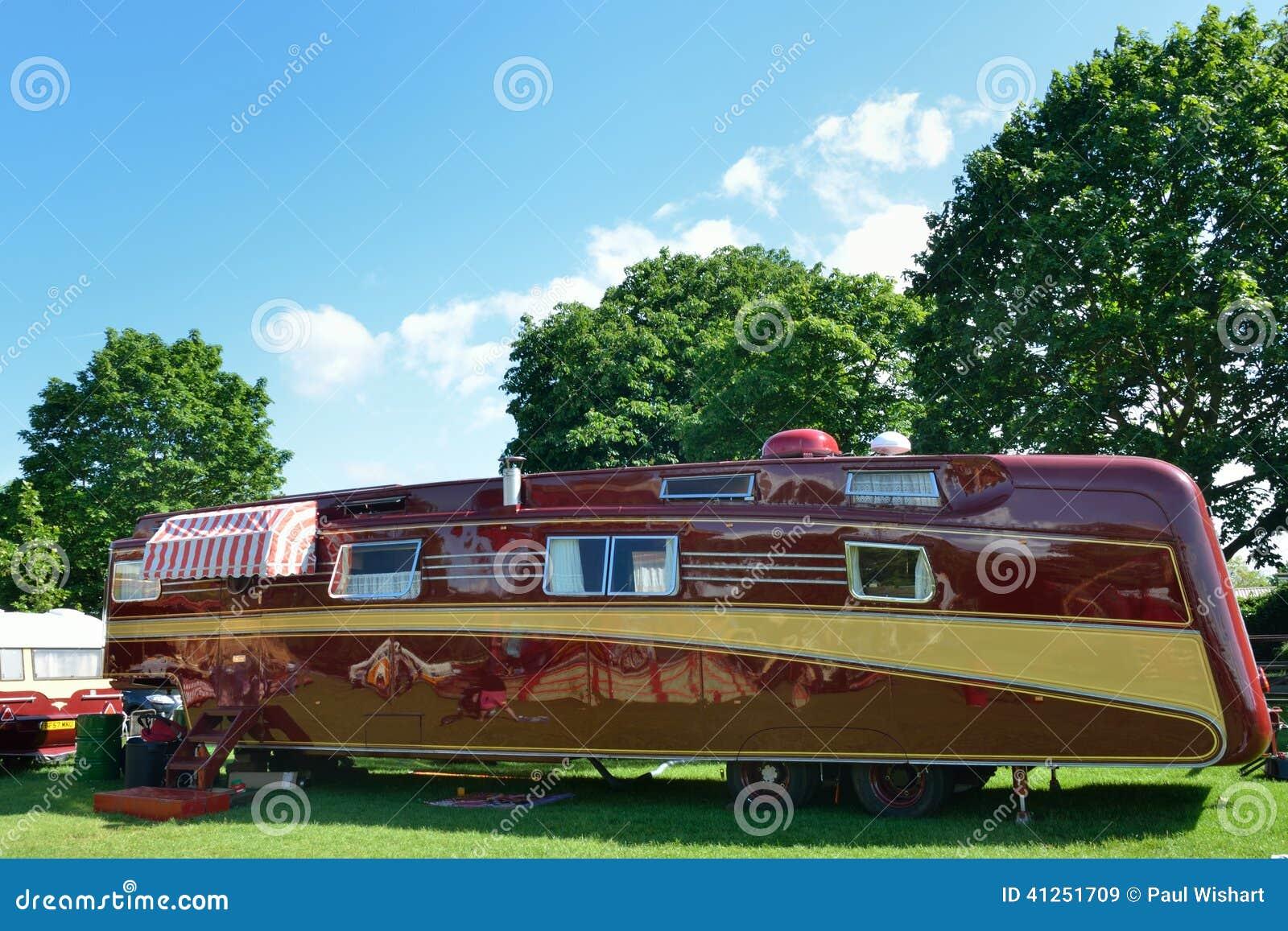 caravane de luxe tr s grande photo stock image 41251709. Black Bedroom Furniture Sets. Home Design Ideas