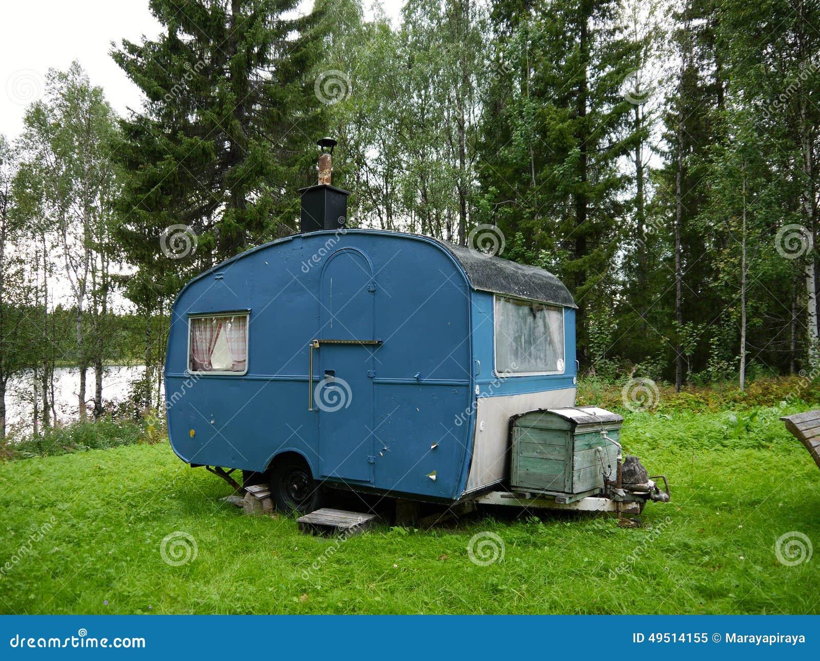 caravane de vintage image stock image du vieux verrouill 49514155. Black Bedroom Furniture Sets. Home Design Ideas