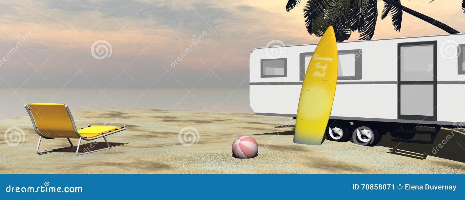 Caravanvakantie bij het 3D strand - geef terug