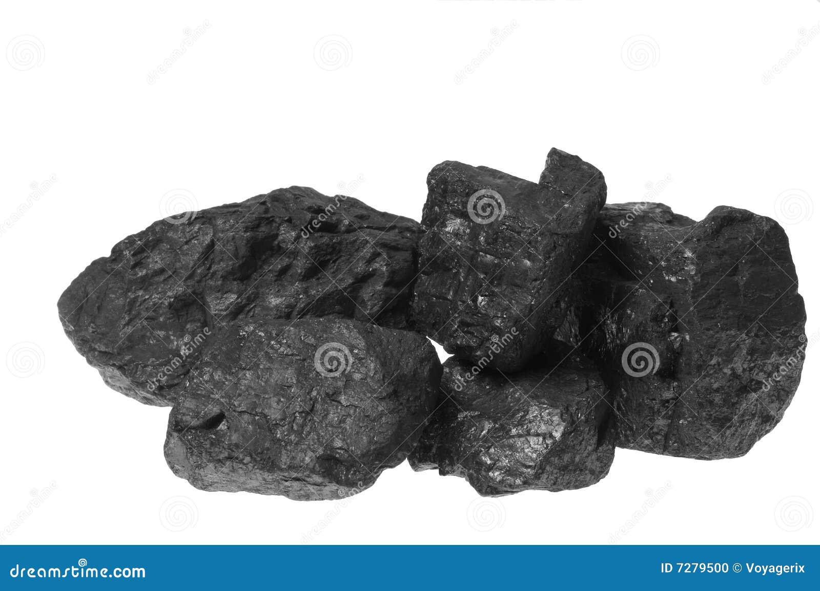 Carbón, pepitas del carbón