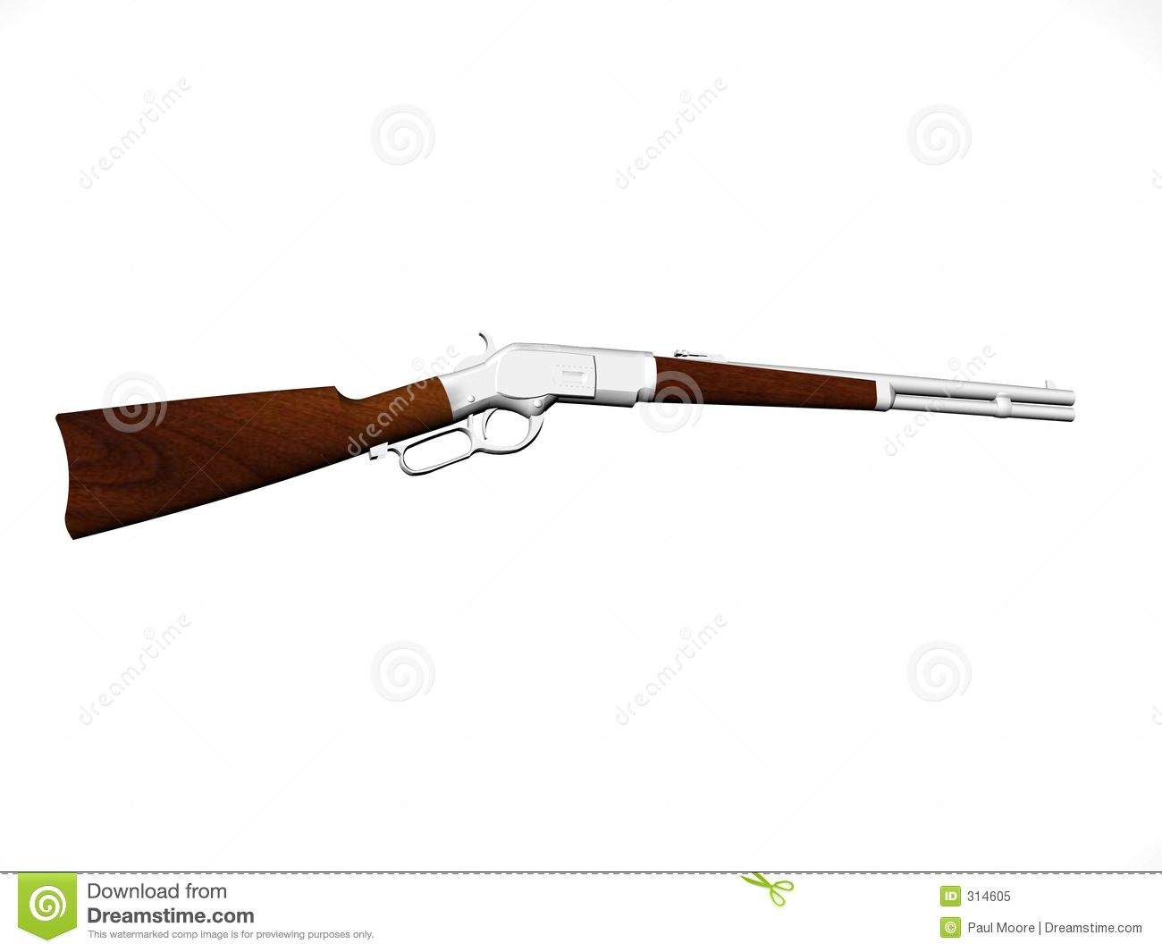 Lever Action Animation : Carbine rifle royalty free stock photo image