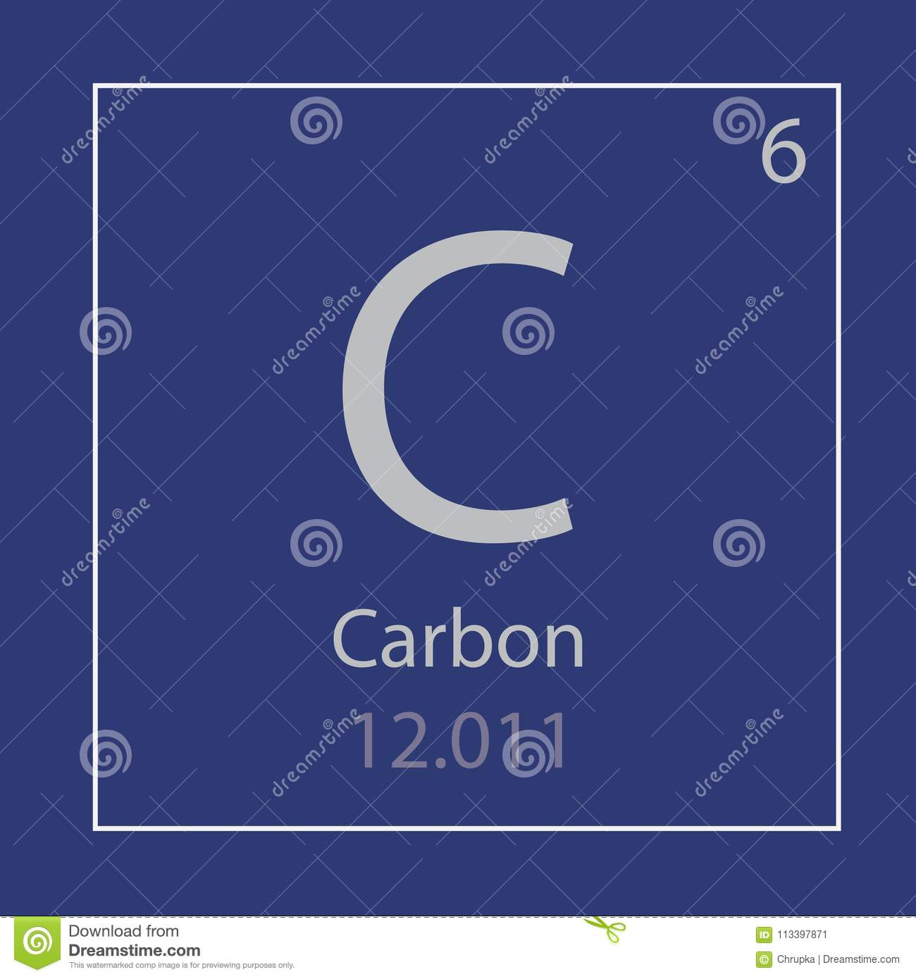 Carbon C Chemical Element Icon Stock Vector Illustration Of Icon