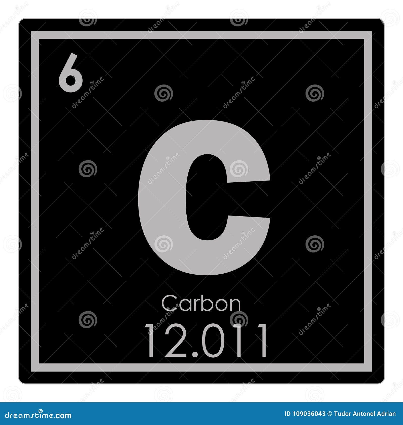 Carbon Chemical Element Stock Illustration Illustration Of Science