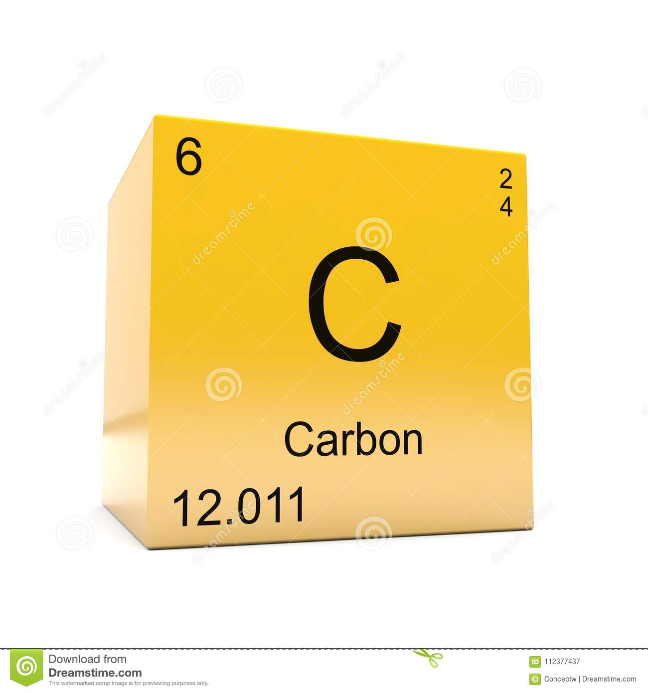 Carbon symbol yellow cube stock illustration illustration of yellow carbon chemical element symbol from the periodic table displayed on glossy yellow cube urtaz Gallery