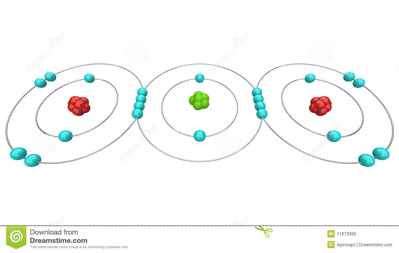 Carbon Dioxide Co2 - Atomic Diagram Stock Illustration