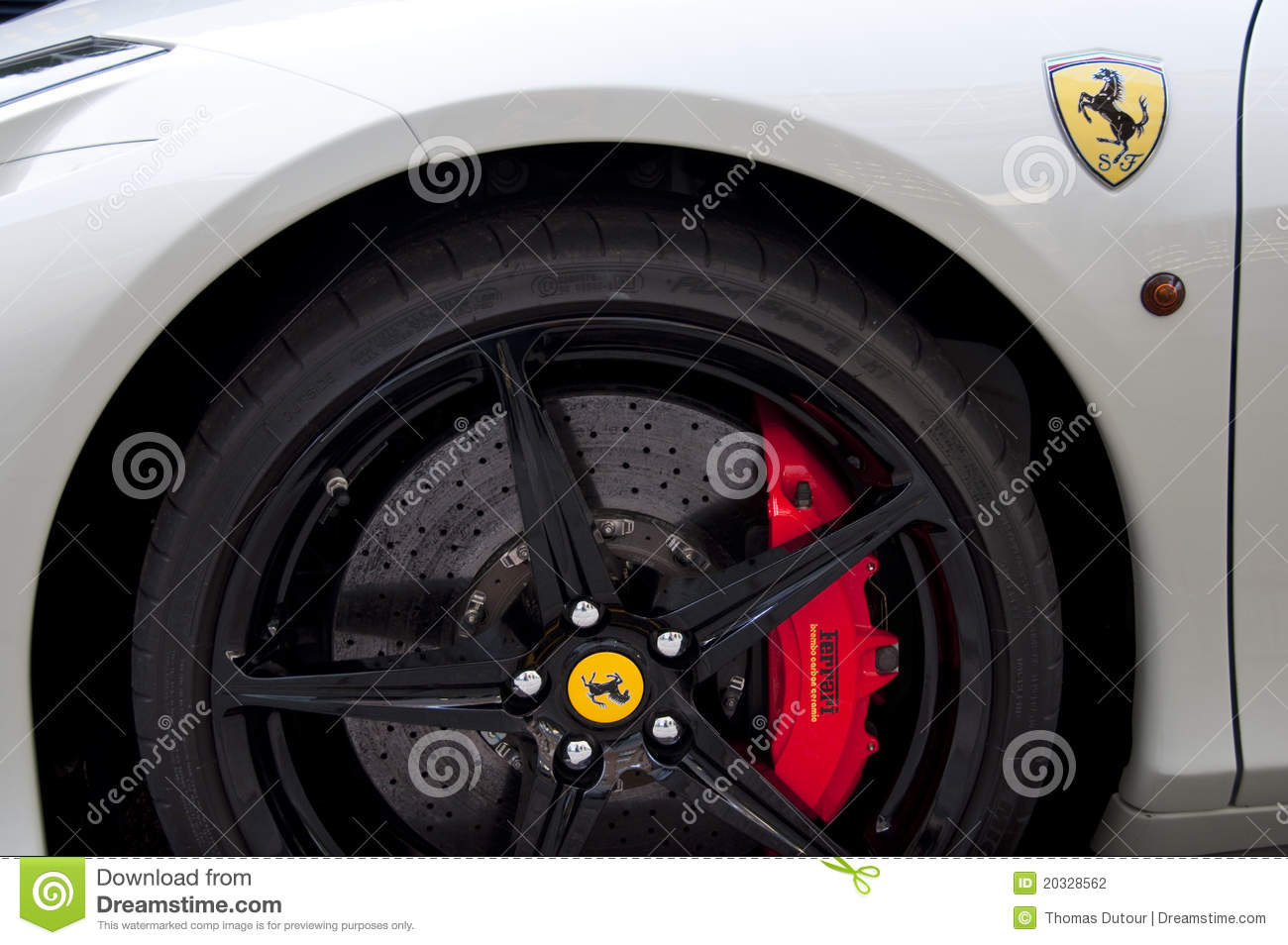 Carbon Disk Brake Of A Ferrari 458 Editorial Photography Image Of