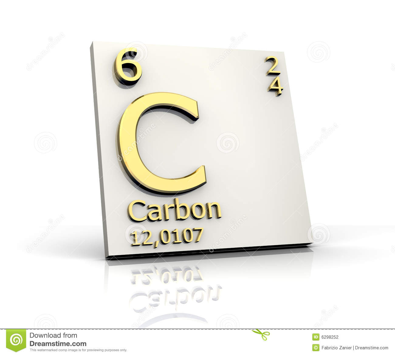 Carbon Form Periodic Table Of Elements Stock Illustration