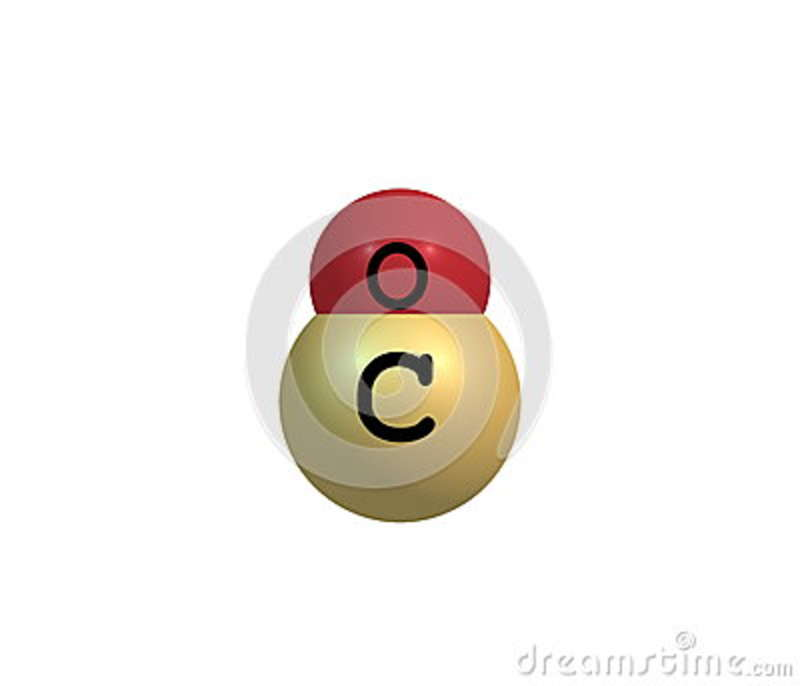 Carbon Monoxide Molecular Structure Isolated On White Stock