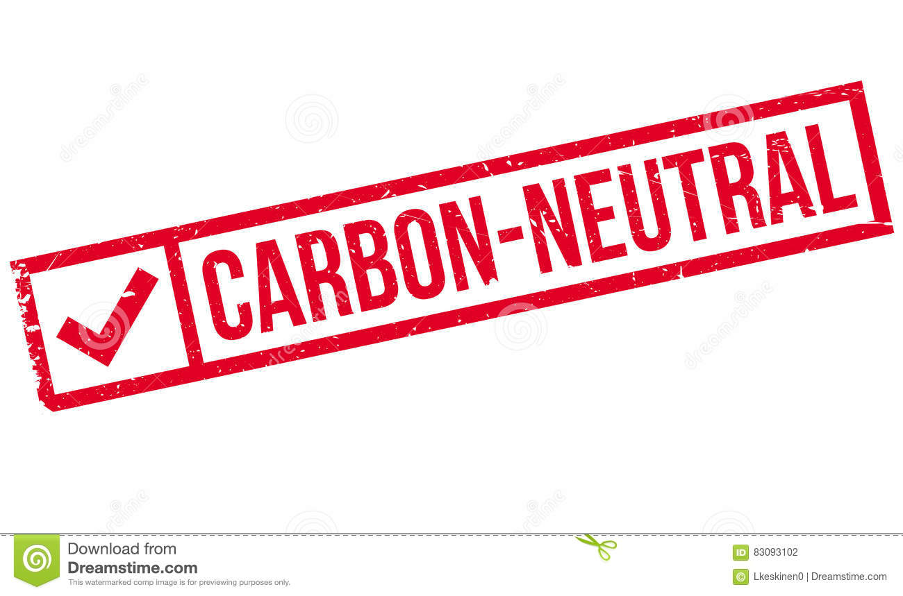 Carbon-neutral rubber stamp