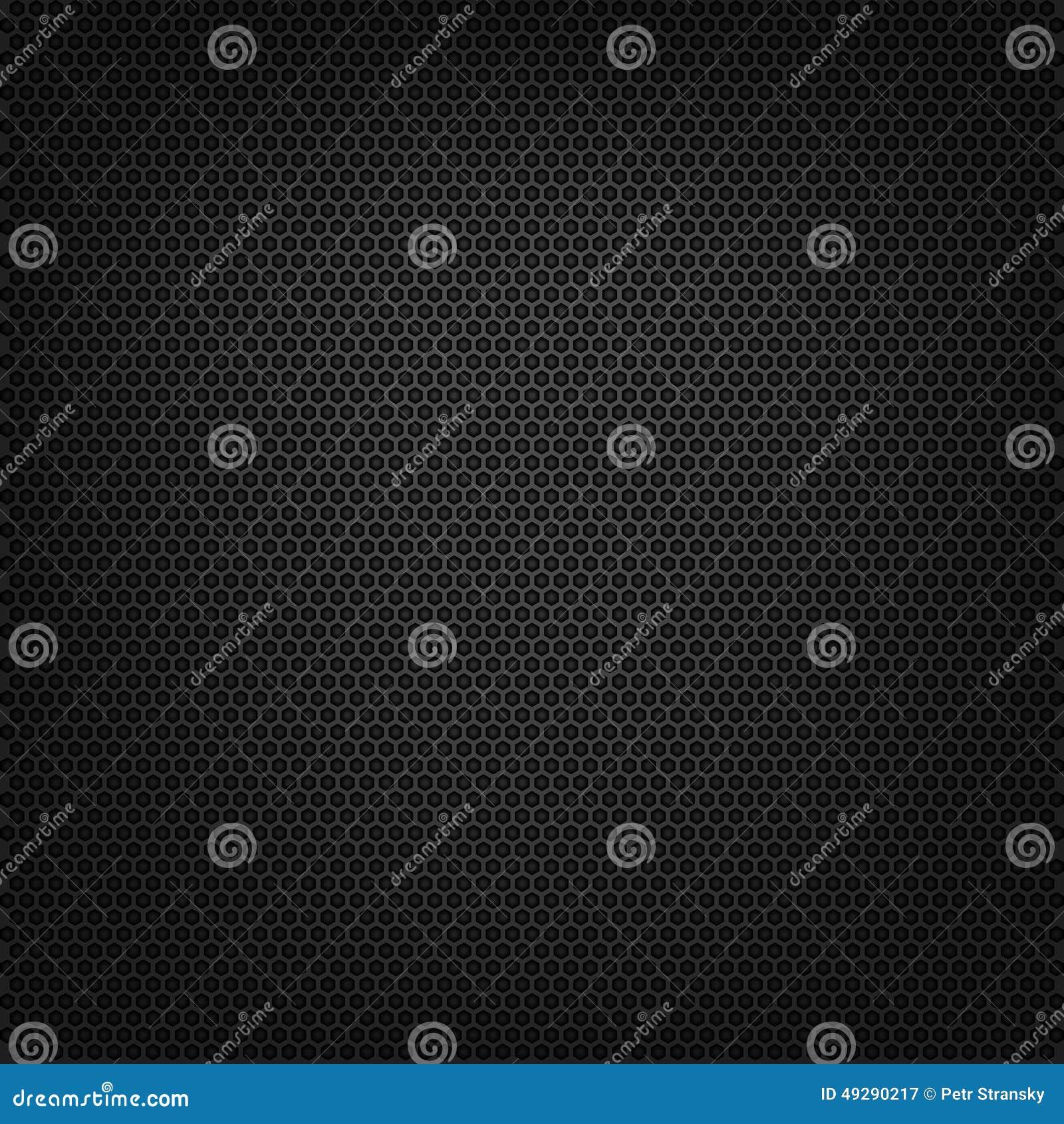 Carbon Polygon Dark Pattern Vector Background Stock Vector