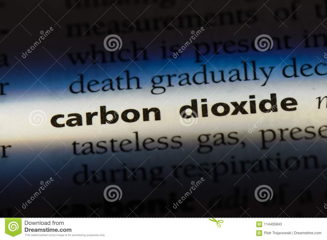 carbondioxide stock image. image of paper, page, definition - 114405843