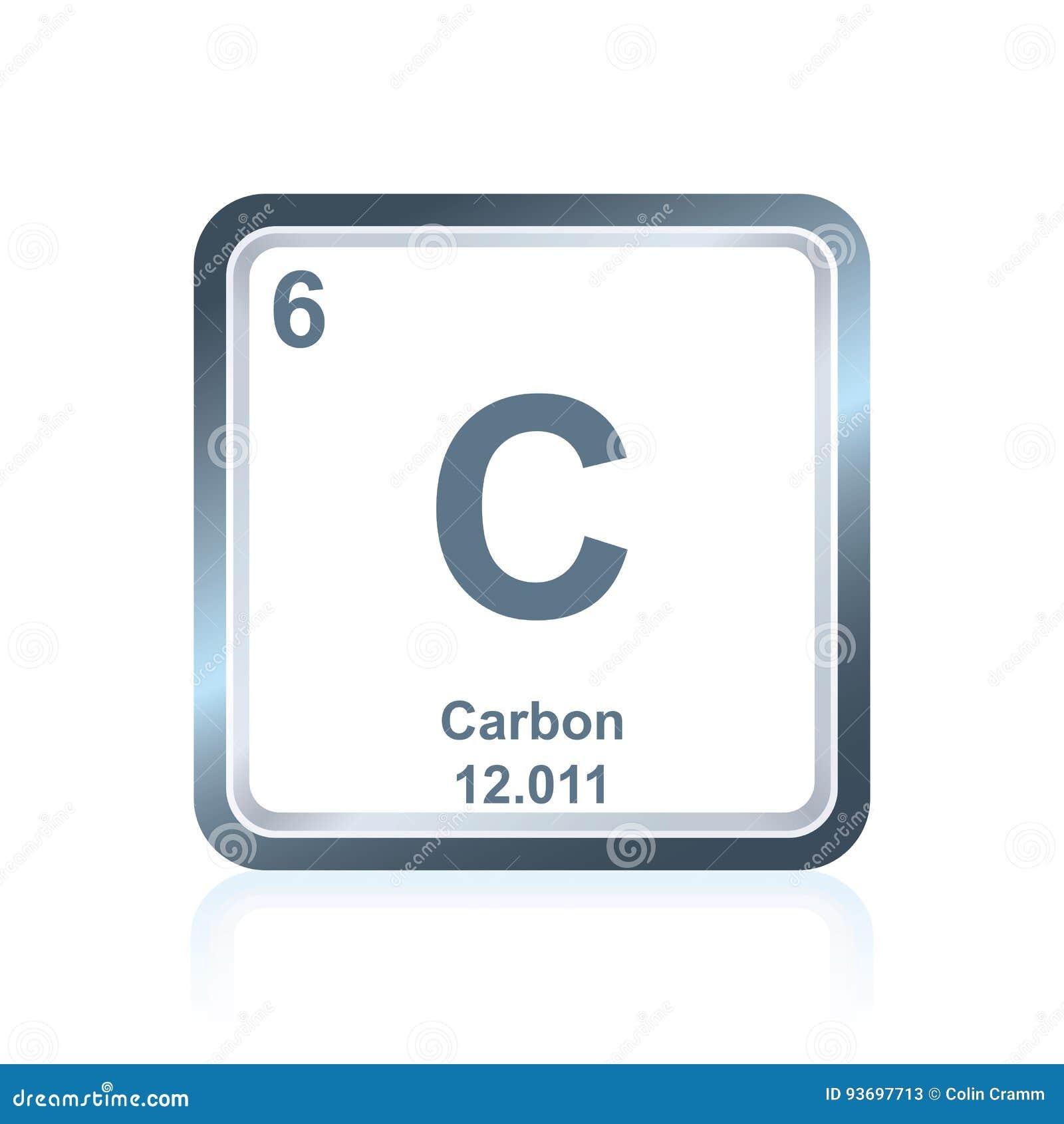 carbono del elemento qumico de la tabla peridica ilustracin del jpg 1300x1390 carbon tabla periodica
