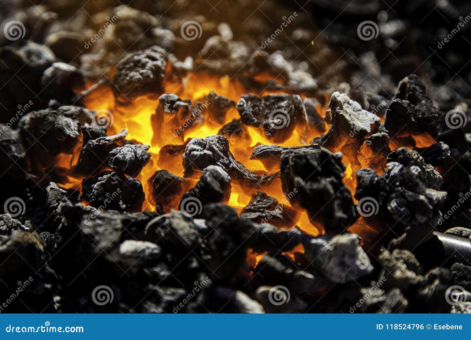 Carbono encarnado no carvões para cozinhar