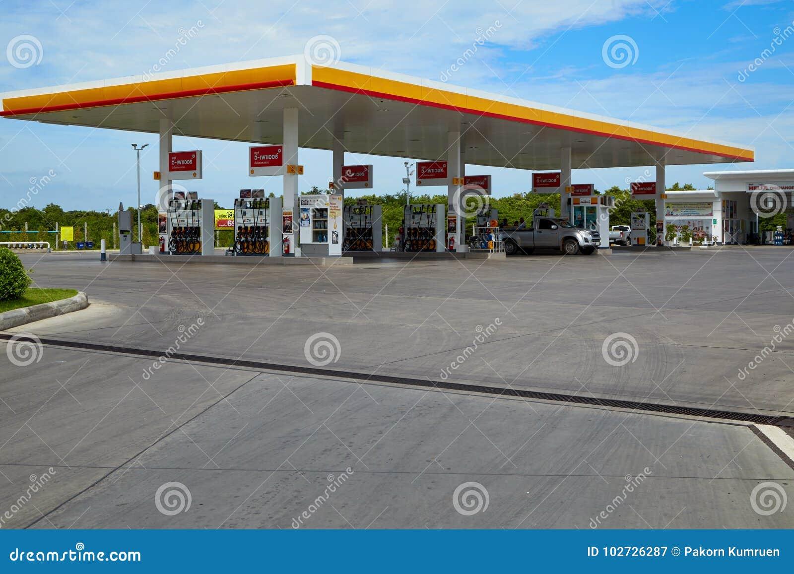 Carburant de SHELL et station service et réparation de voiture