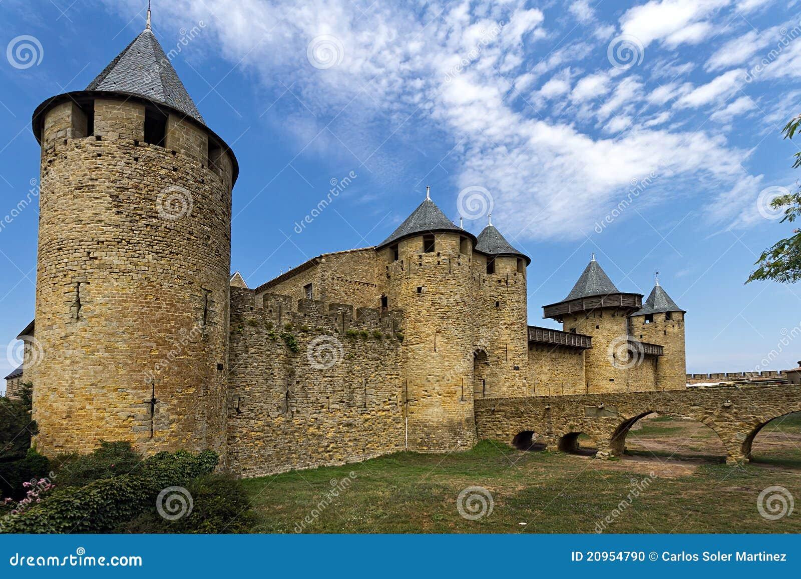 carcassonne france unesco castle stock photo image 20954790. Black Bedroom Furniture Sets. Home Design Ideas