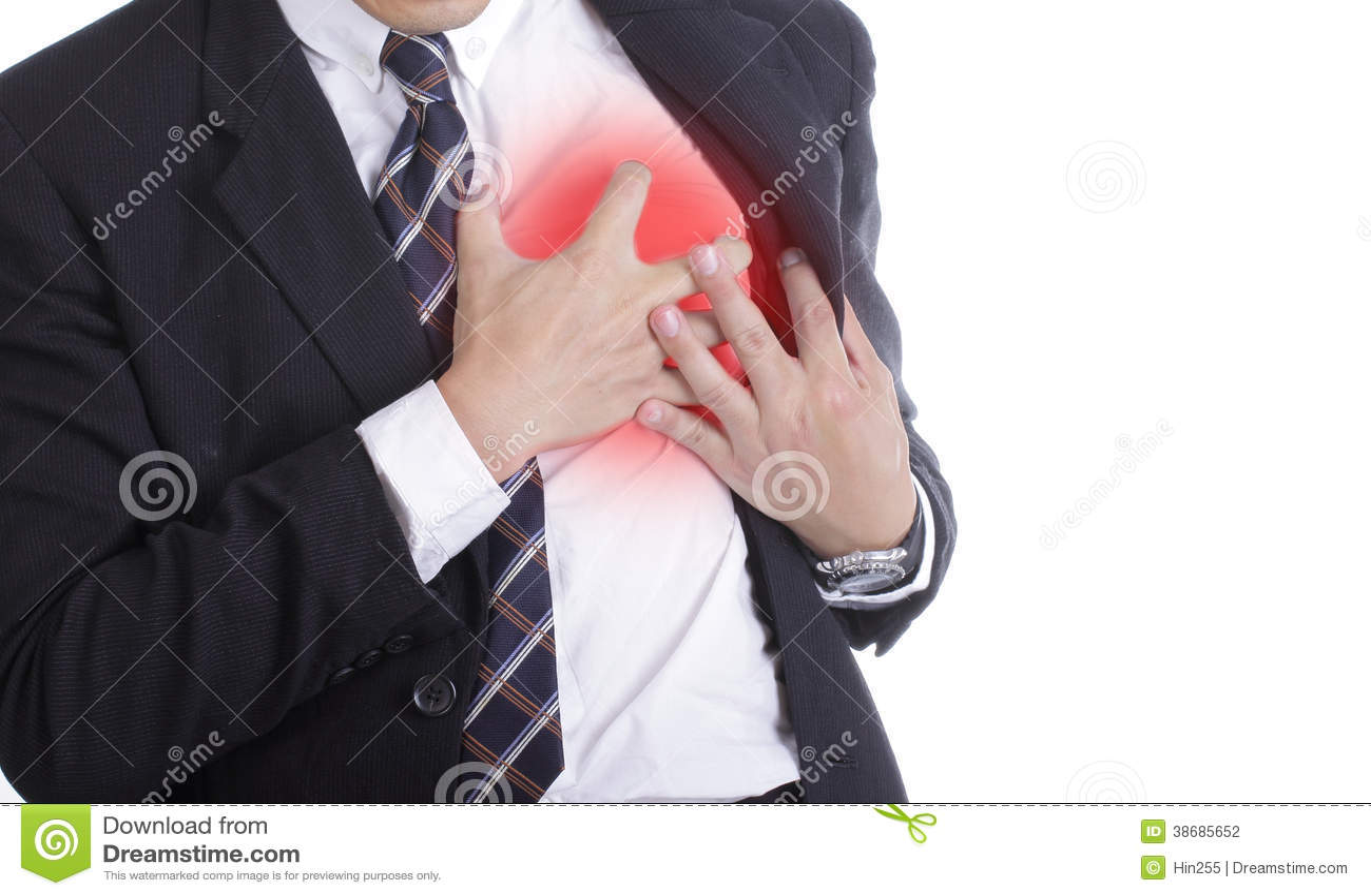 Cardíaco de ataque durante o trabalho