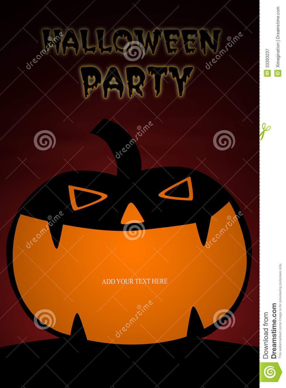 Card Design Of Pumpkin For Halloween Party Royalty Free Stock ...