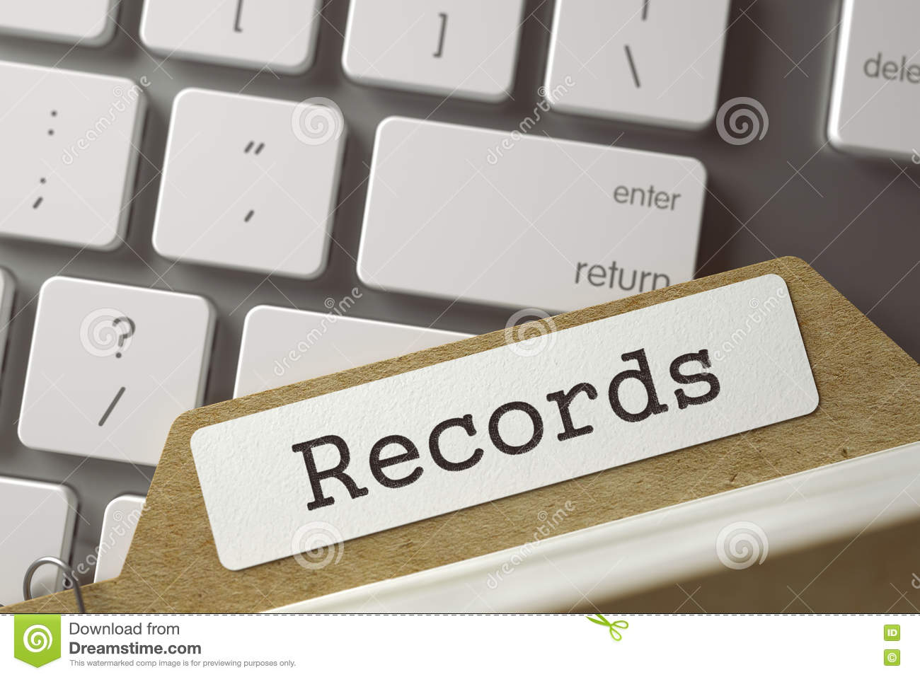 Card File Records  3D  stock photo  Image of account - 80602826