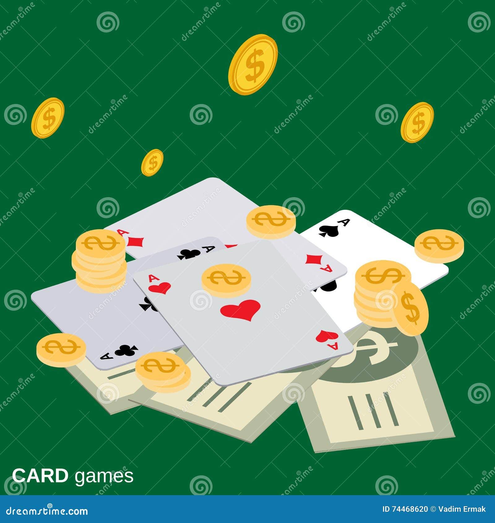 Card games vector illustration