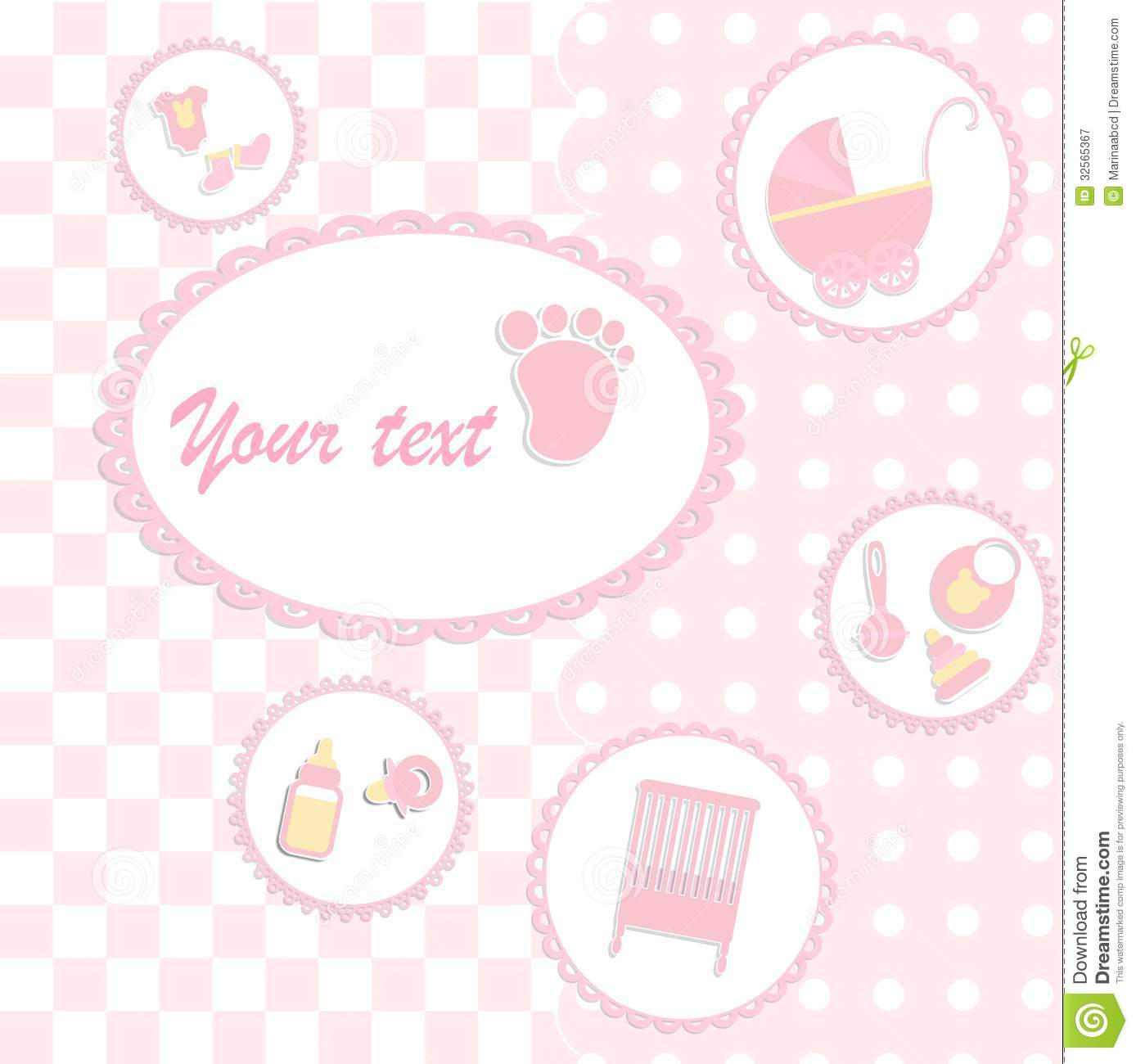 card for girl babyshower royalty free stock photography image