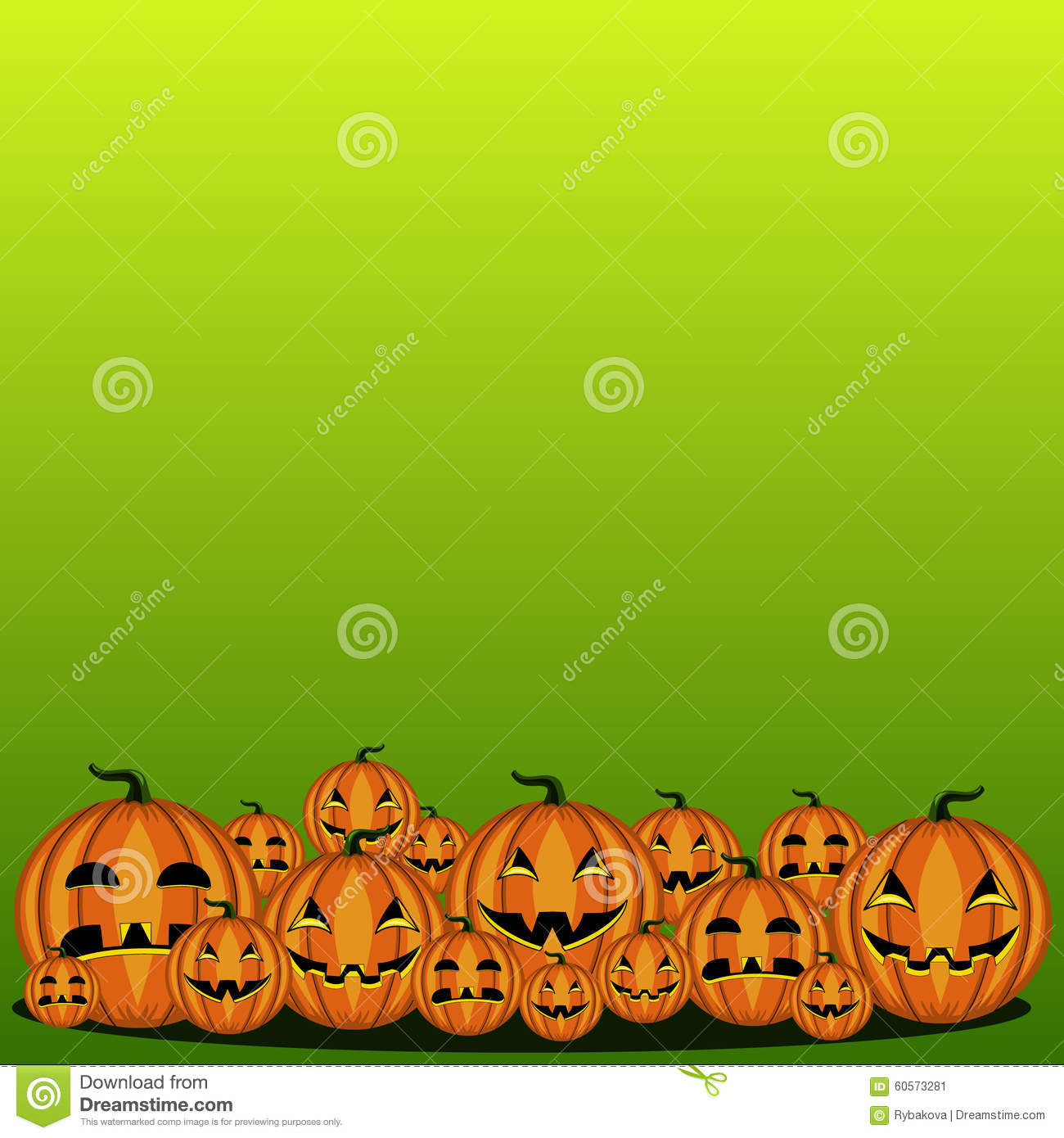 Card with Halloween pumpkin