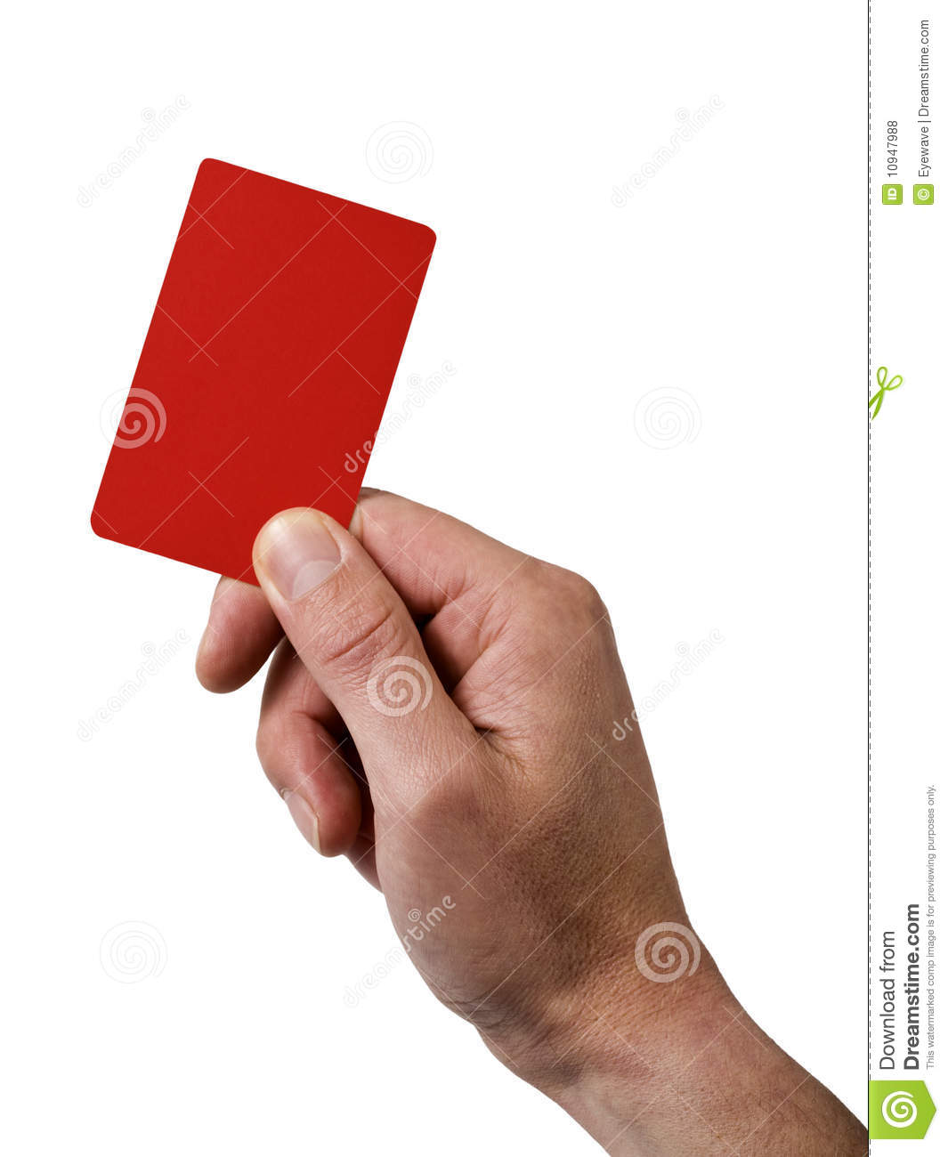 Card hand holding penalty red