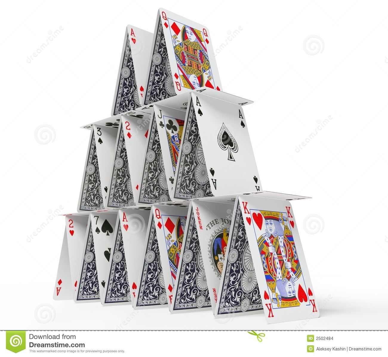 The Card House Stock Images - Image: 2502484