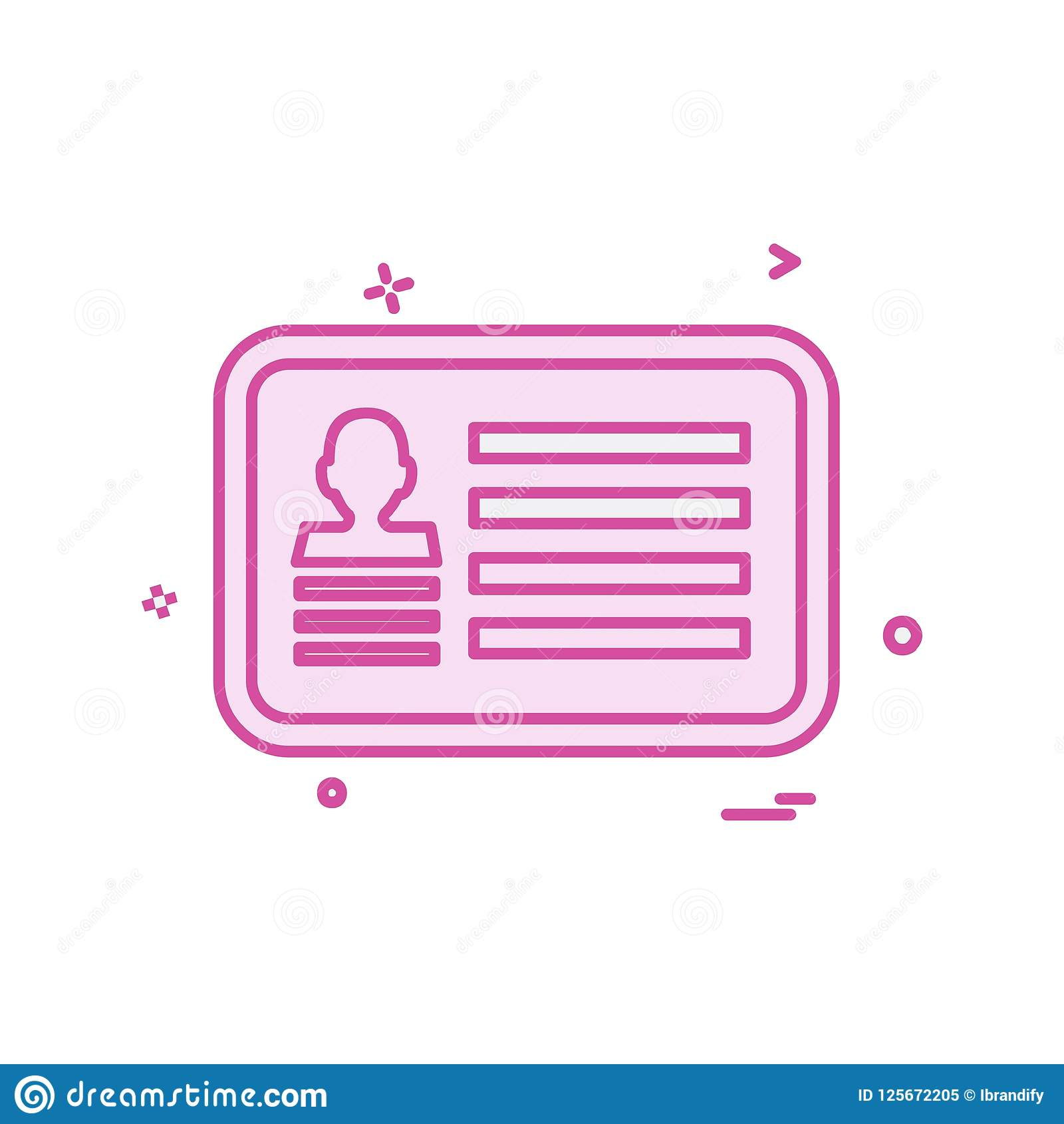 Card icon design. This Vector EPS 10 illustration is best for print media, web design, application design user interface and infographics with well composed Royalty Free Illustration