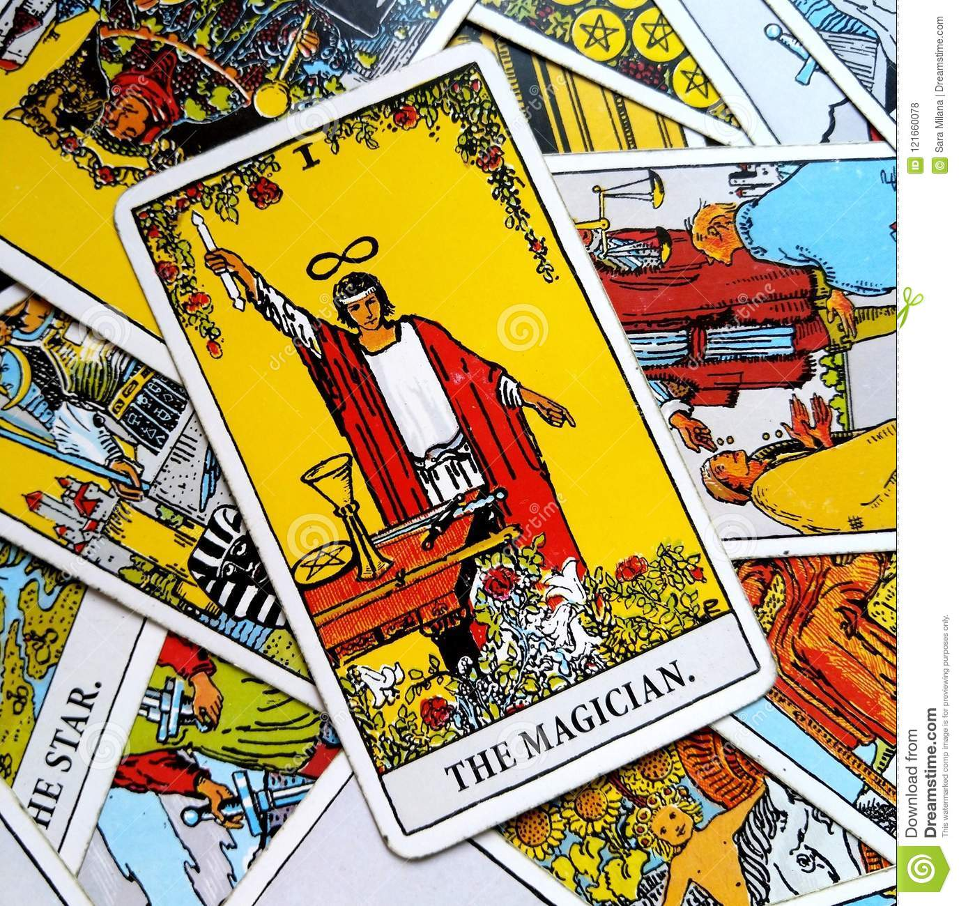 The Magician Tarot Card Power Intelect Magic Control Stock