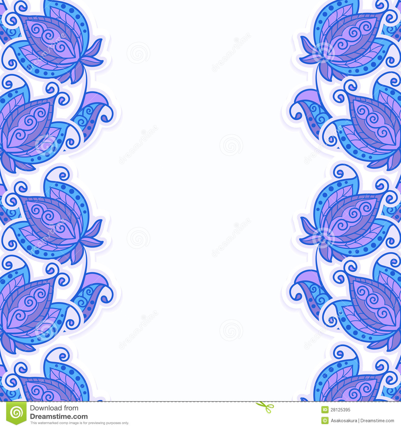 Card Or Invitation With Floral Background. Stock Vector - Image: 28125395