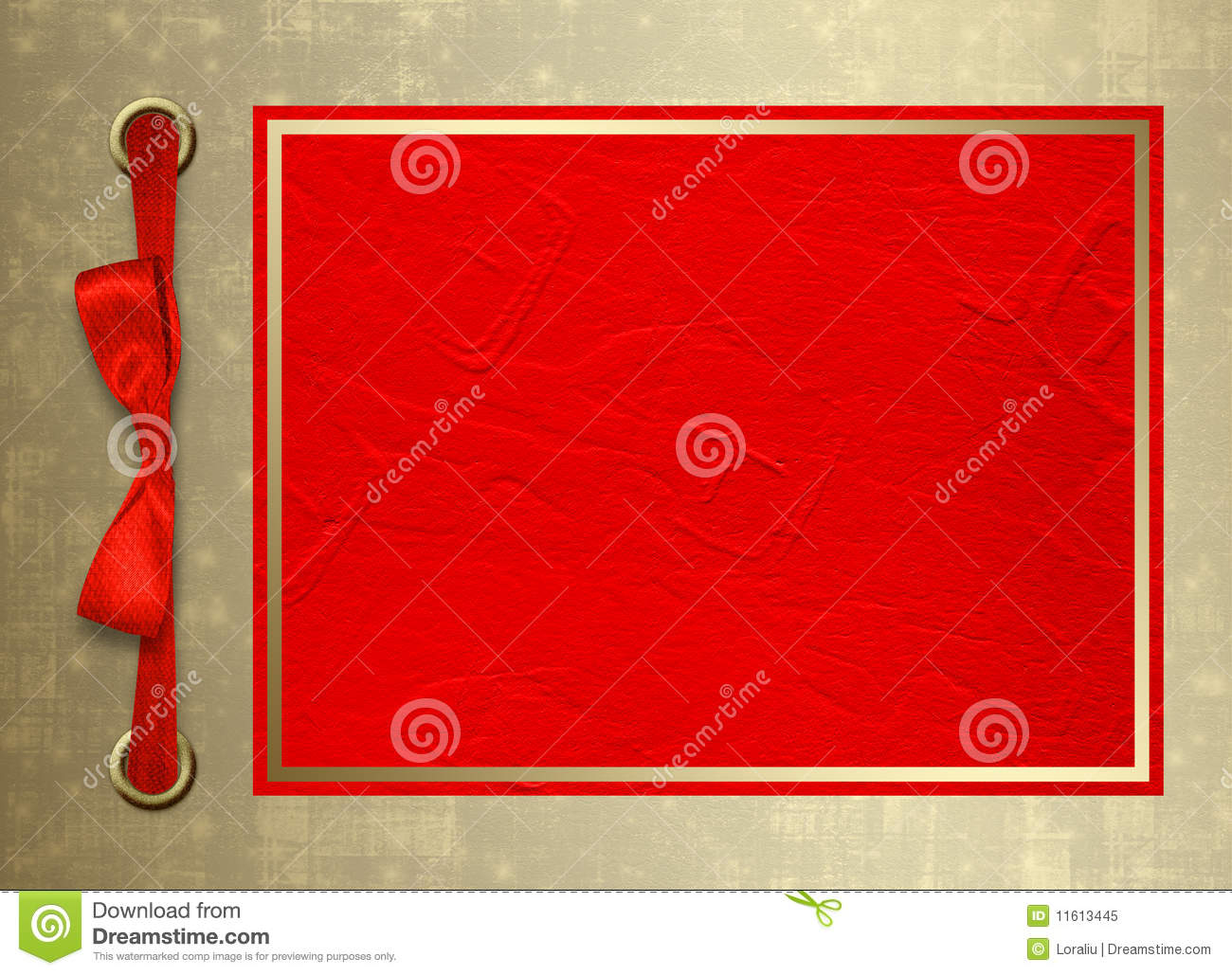 Card for invitation with gold frame and red bo stock illustration card for invitation with gold frame and red bo stopboris Image collections