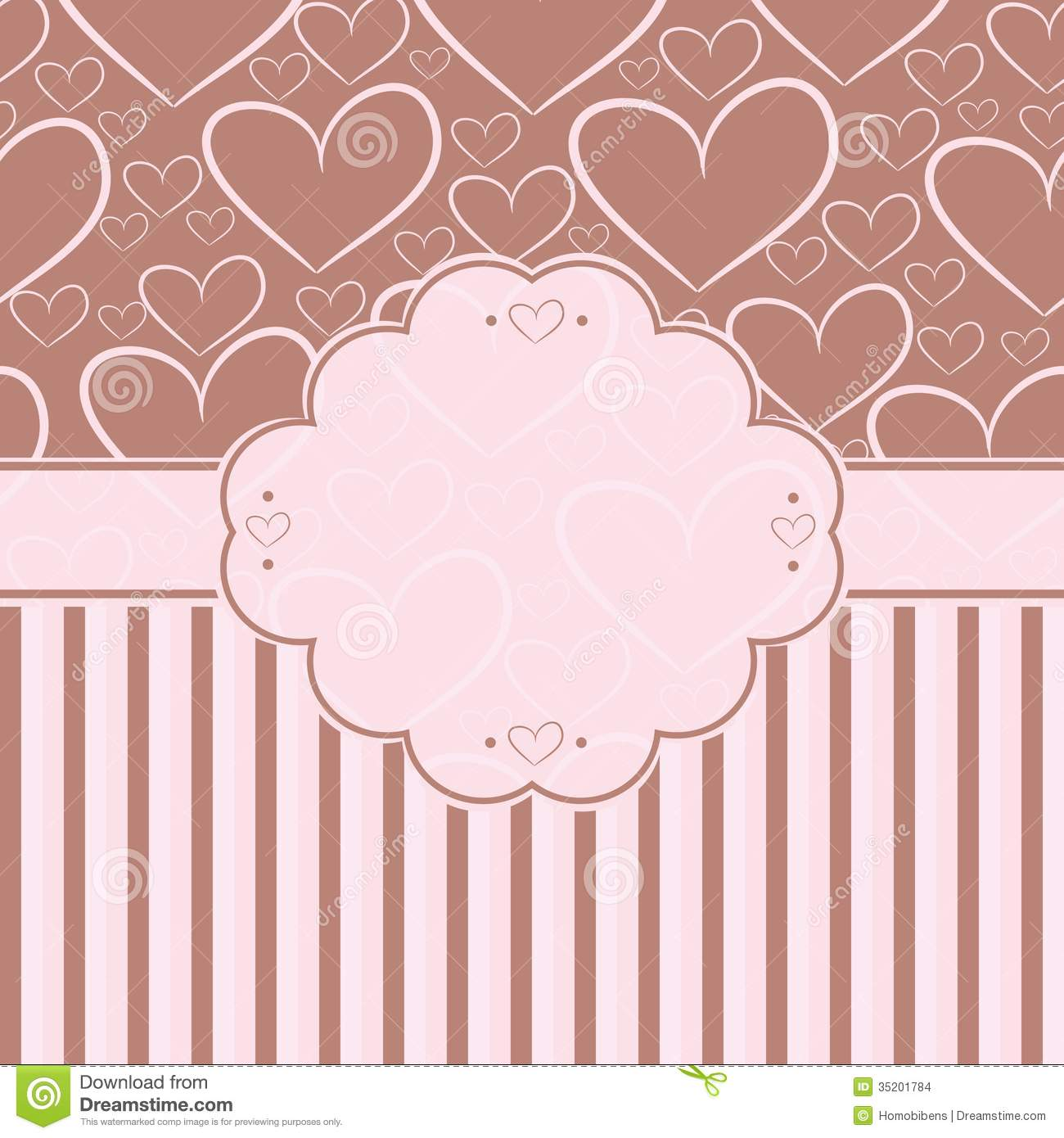 Card with label and seamless pattern with silhouet