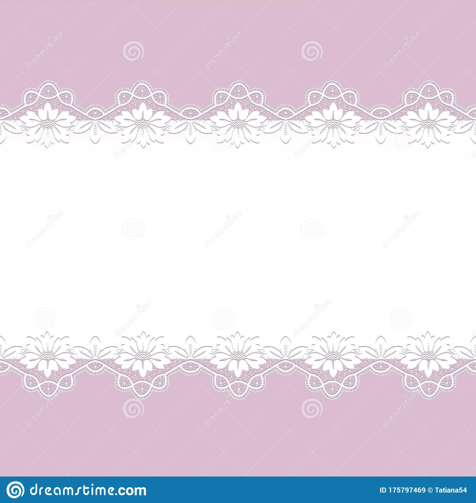 card with lace borders stock vector illustration of