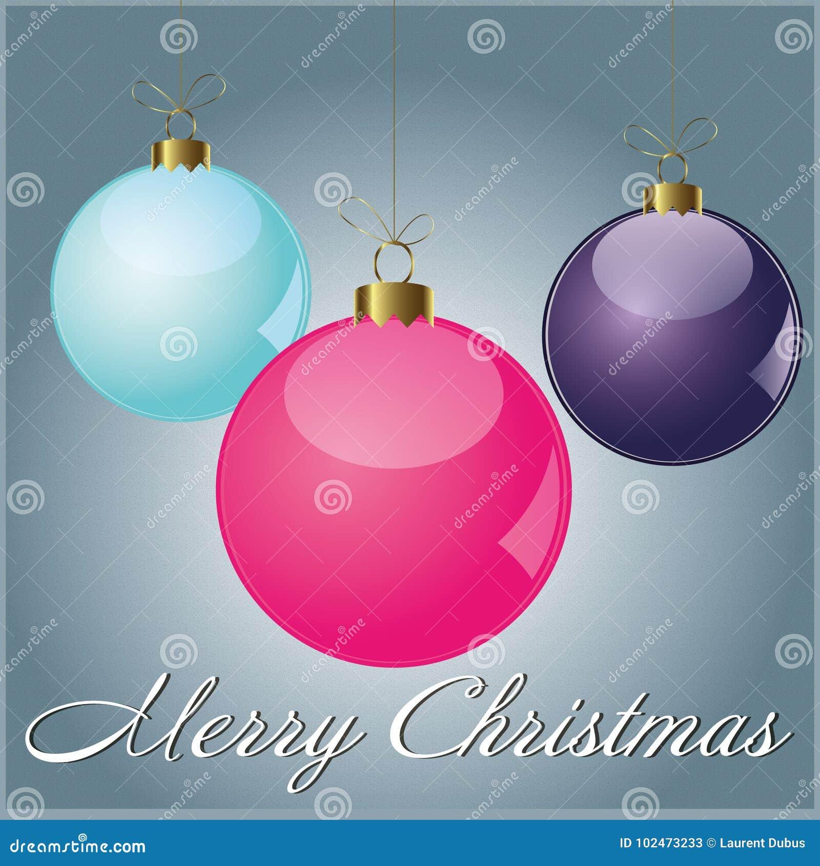 Card Merry Christmas Ball