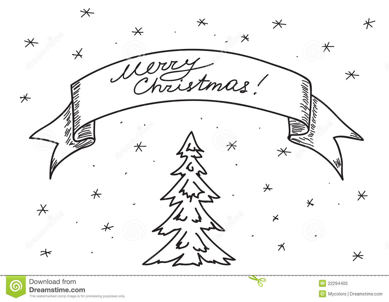 card merry christmas hand drawing eps