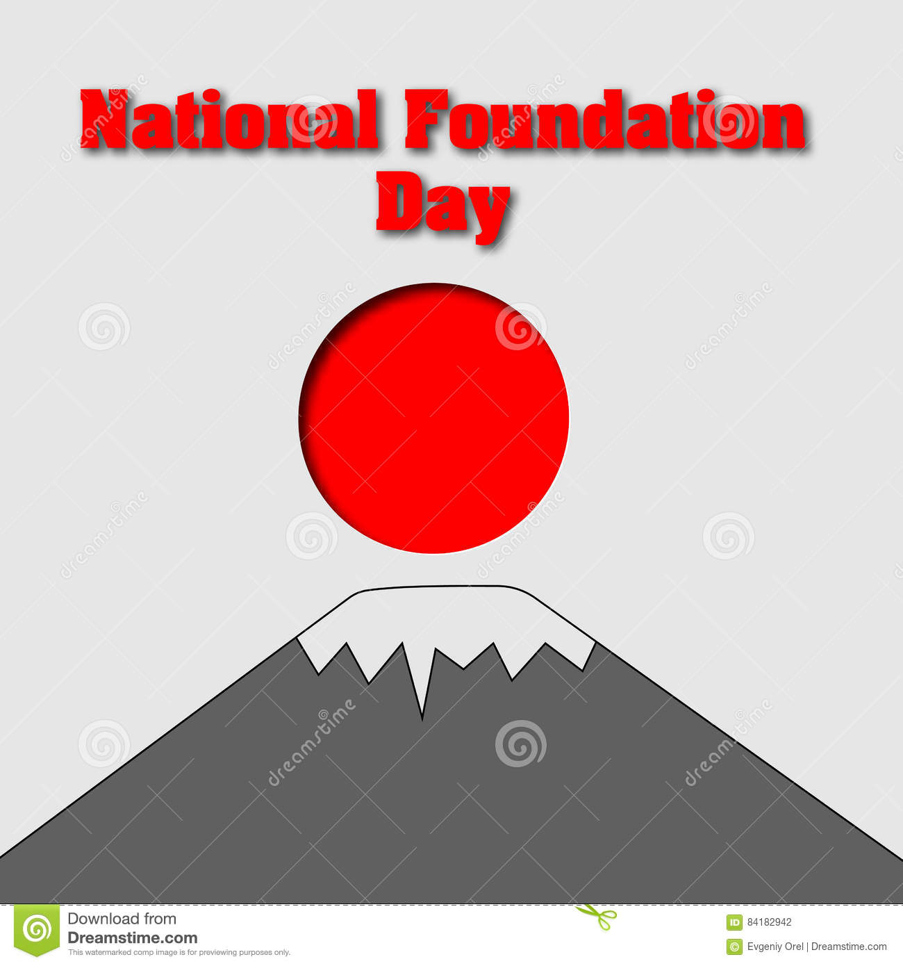 622dfa08b35 Card For National Foundation Day In Japan. Design With Text ...