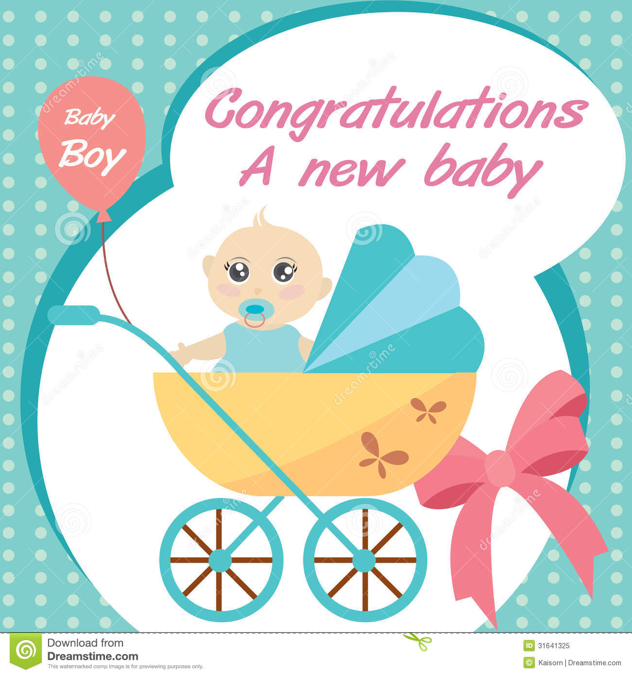 download card new born baby boy stock vector illustration of birth 31641325 - New Born Baby Card