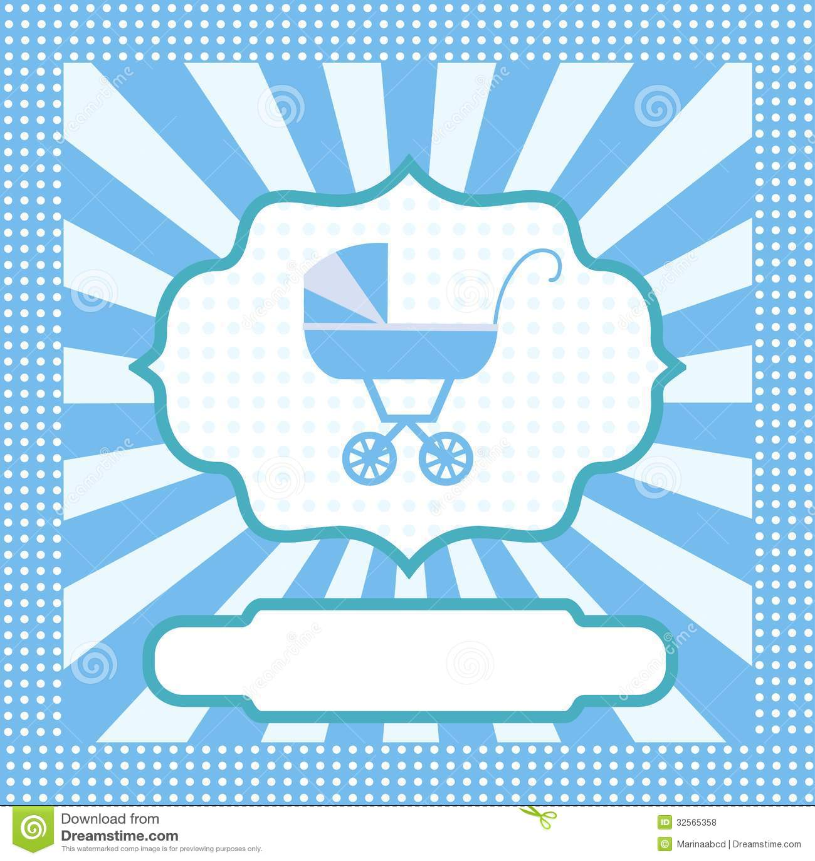 Card For Newborn Boy Stock Vector Illustration Of Design 32565358