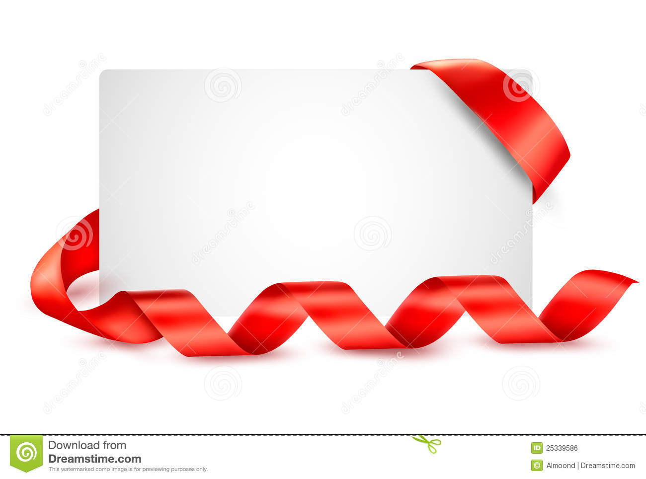 Card with red gift ribbons stock vector illustration of shiny card with red gift ribbons negle Image collections